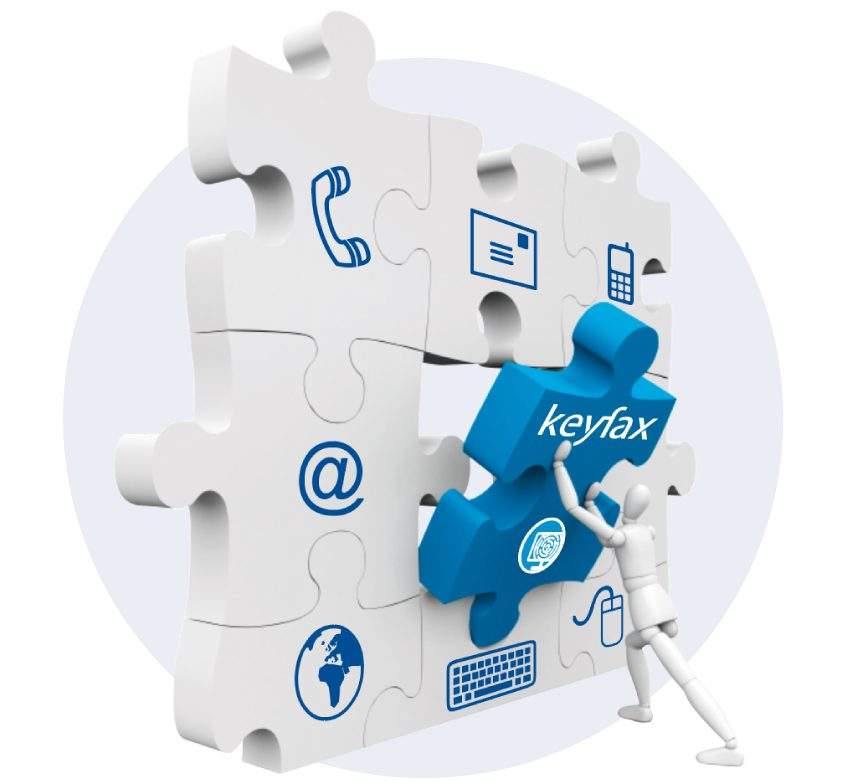 Keyfax Repairs Diagnostics jigsaw piece fitting into your communications systems