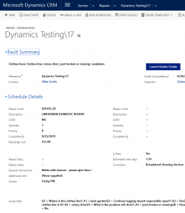 populating information back into Dynamics CRM from Keyfax